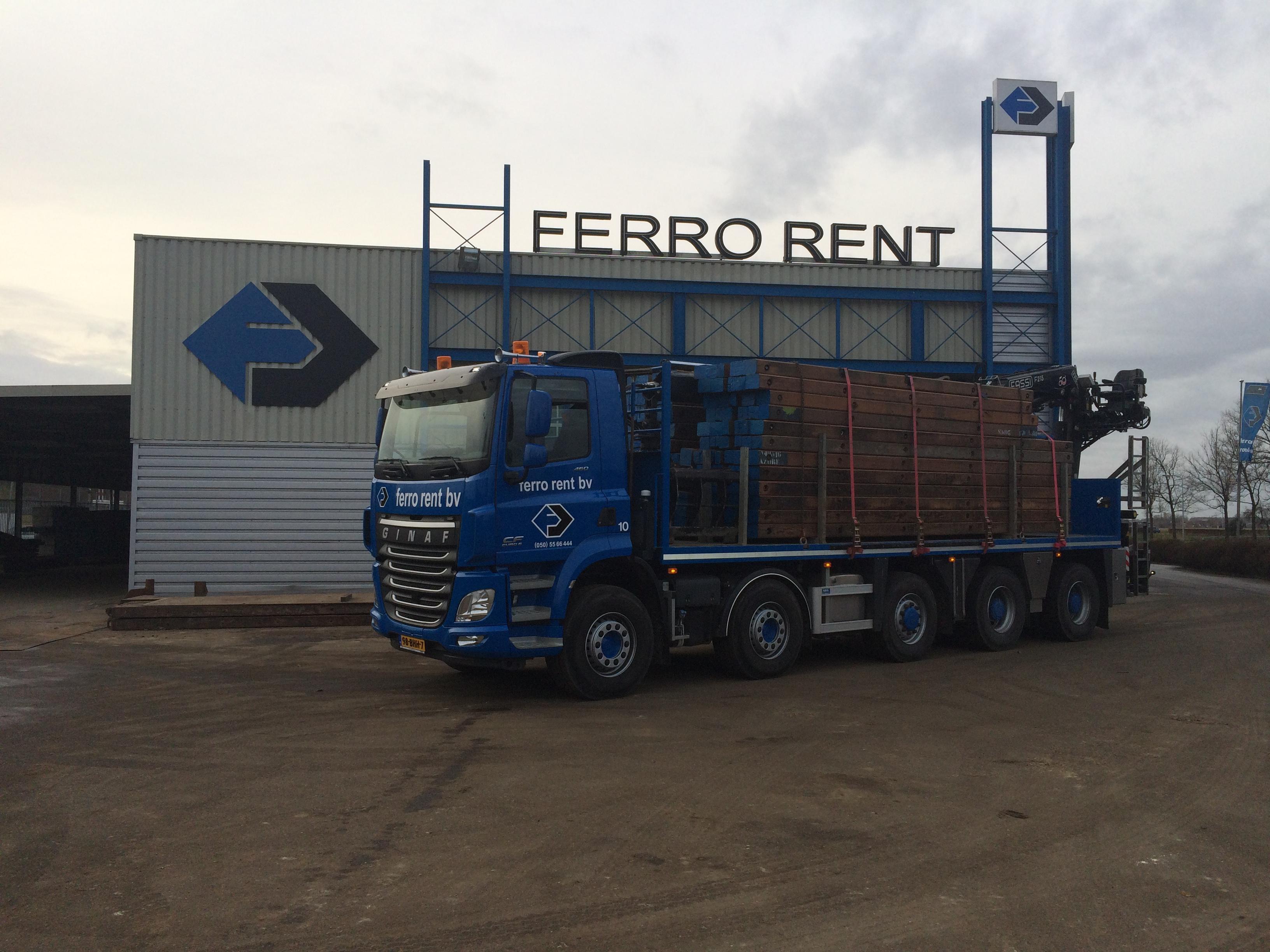 Ferro Rent kan vervoer van materiaal voor u verzorgen